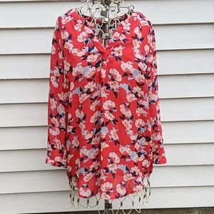 Cynthia Rowley floral blouse excellent condition
